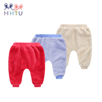 HHTU 2017 New Toddlers Baby Boys Girls Casual Pants Kid Autumn Winter Warm Trousers Newborn Baby