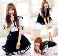 Girls Sailor Suit Japanese Super Restoring Ancient High Waist Straps School Wear Short Skirt