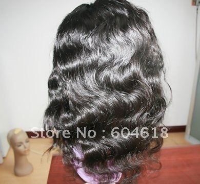 stock!!AAA grade silk top body wave  chinese brazilian  virigin front  lace Wigs lace wig-Free shipping