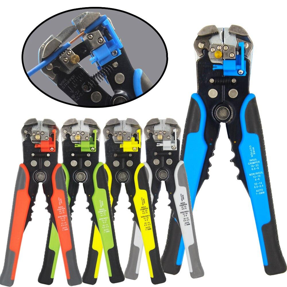 HS-D1 Fio cortador de friso automática descascador de fios multi-funcional ferramentas descamação alicate De Terminais 0.2-6.0mm2 ferramenta