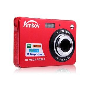 "Image 3 - Amkov CDC32 2.7 ""TFT HD Mini Digitale Camera 18MP 8x Zoom Video Camera Smile Capture Mini Camera Anti  shake Digitale Camcorder"