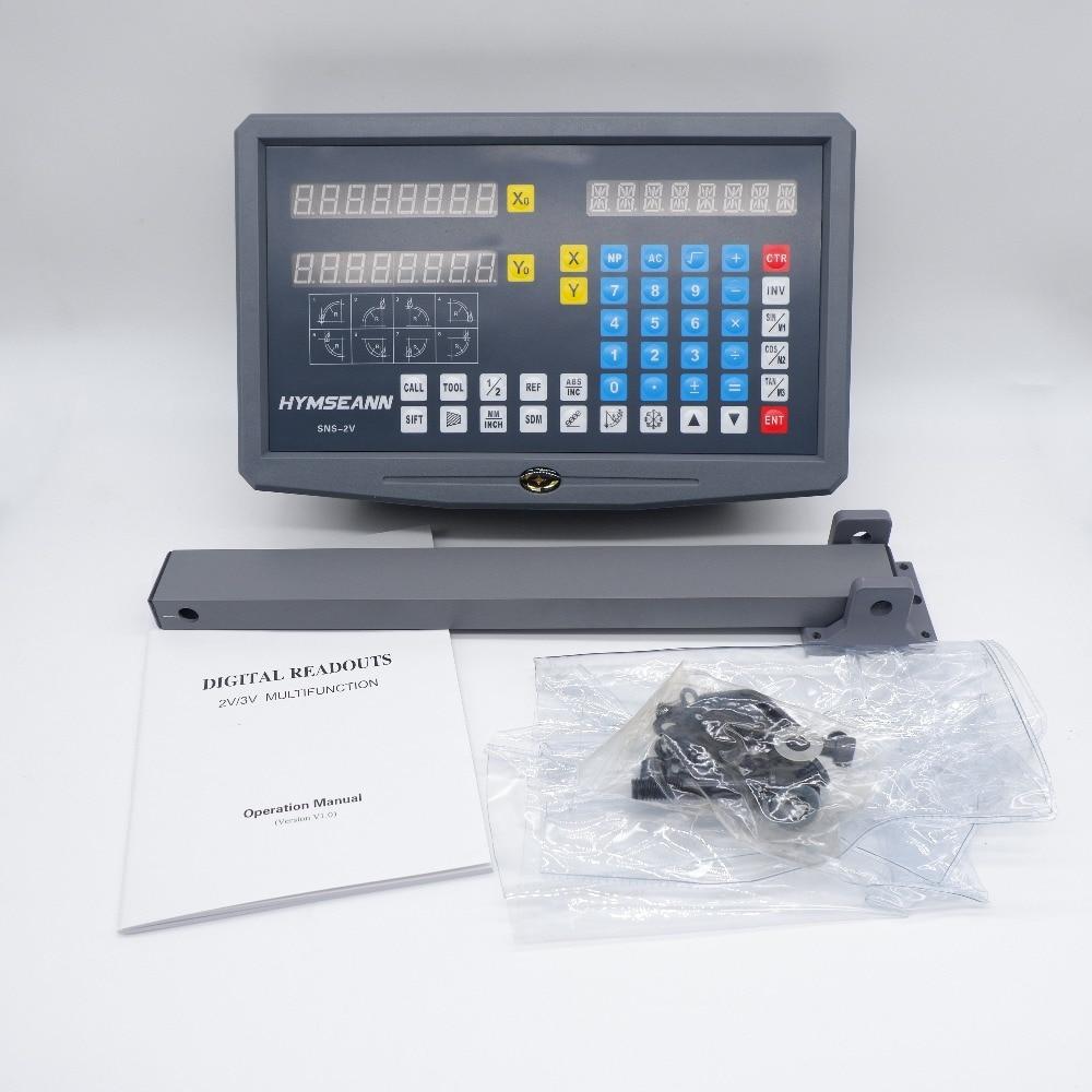 Nueva 2 ejes de lectura Digital DRO TTL EIA-422A pantalla SNS-2V con Mouting soporte para Sino Easson, HXX, racional, Sinpo escala