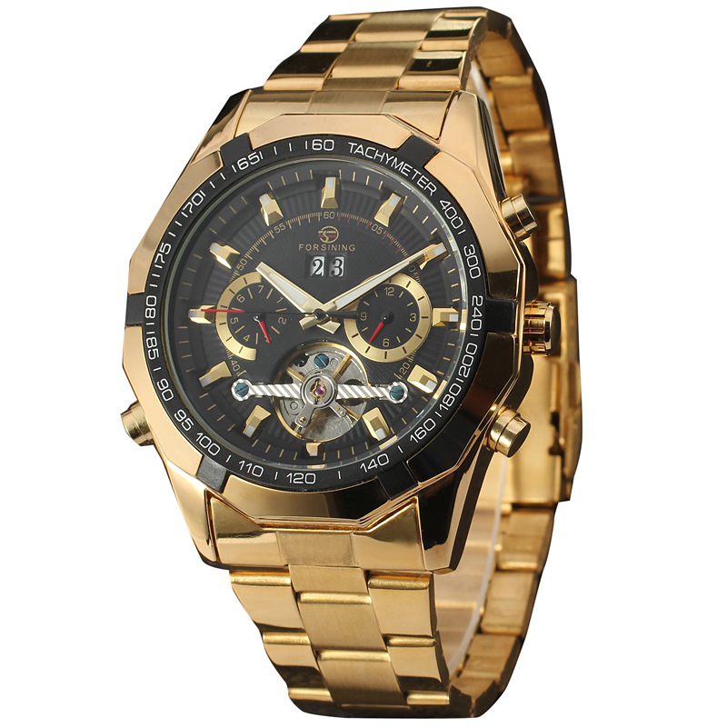 цены  2016 New Gold Watches Luxury Classic Brand Men's Fashion Automatic Hollow Out Man Mechanical Watches Waches relogio masculino
