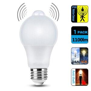 Image 3 - WiFi חכם אור LED הנורה E27 8W 9W 10W 12W A60 PIR Motion חיישן LED הלילה הנורה מנורת לבית מסדרון גן תאורת 220V