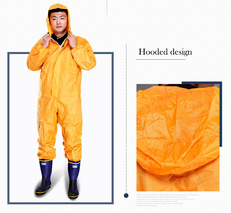 Men Waterproof Overalls Hooded Rain Coveralls Work Clothing Dust-proof Paint Spray Male Raincoat Workwear Safety Suits M-XXXL (7)