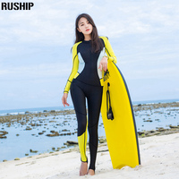 Hisea Jumpsuit Dive Skins Full Body Rash Guards Lycra Elastic Fabric Surfing Suit Long Sleeved Beach