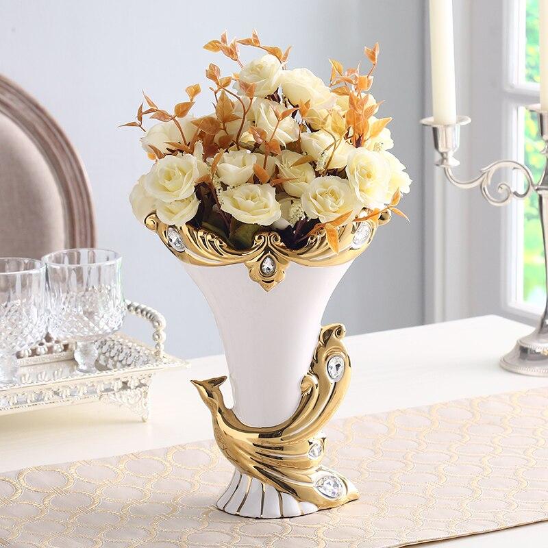 И американский керамическая ваза украшения просто домашнего интерьера гостиной журнальный столик ТВ кабинет Декор