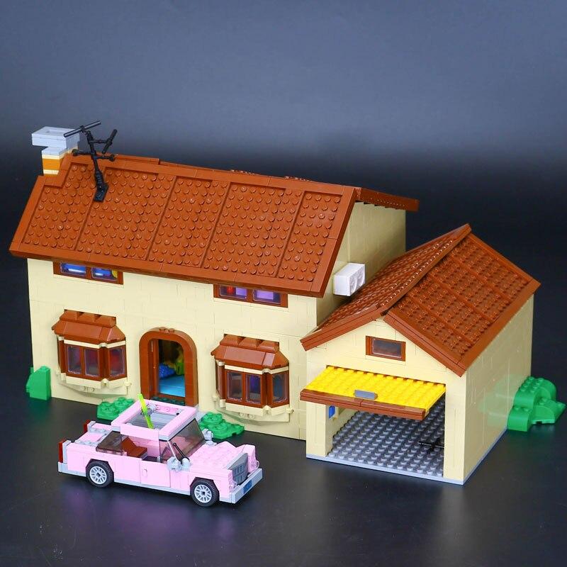 2575Pcs Bricks Lepine 16005 Simpsons House Set Figures Model Building Block Toys for Children Boy Gift Compatible Legoe 71006 lepine model