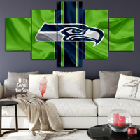 Seattle Seahawks Art Canvas Posters Home Decor Wall Art Framework 5 Pieces Paintings For Living Room HD Prints Pictures
