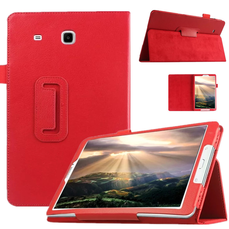 wholesale dealer 87c05 c2624 Smart PU Leather Cover For Samsung Galaxy Tab E 9.6 T560 T561 Tablet Case  Tablet Slim Protective Shell+Pen+Film