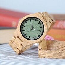 Бобо птица CdB22 Мода бамбуковые часы с белым иглы Повседневная japaness кварцевые часы для мужчин в деревянной подарочной коробке