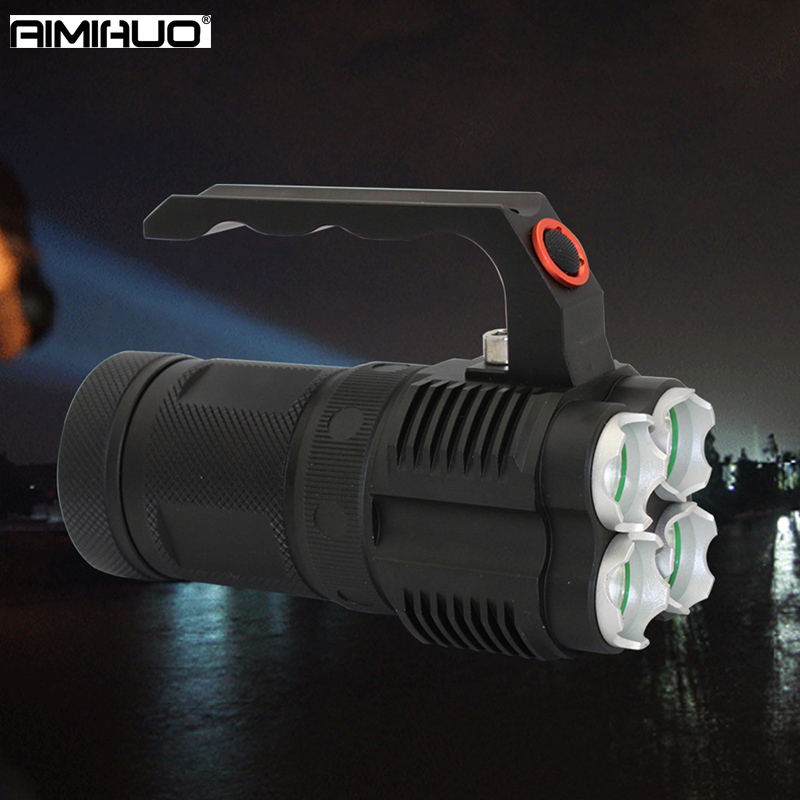 AIMIHUO LED Flashlight 4 L2 high power long shot portable searchlight LED Lanterna Torch aluminum alloy lighting flashlight Lamp portable ultra bright waterproof aluminum alloy mini led flashlight
