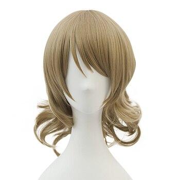 HSIU YENI Yüksek kalite Watanabe Cosplay Peruk Aşk Canlı! Sunshine! Kostüm Oynamak Peruk Cadılar Bayramı Kostümleri Saç