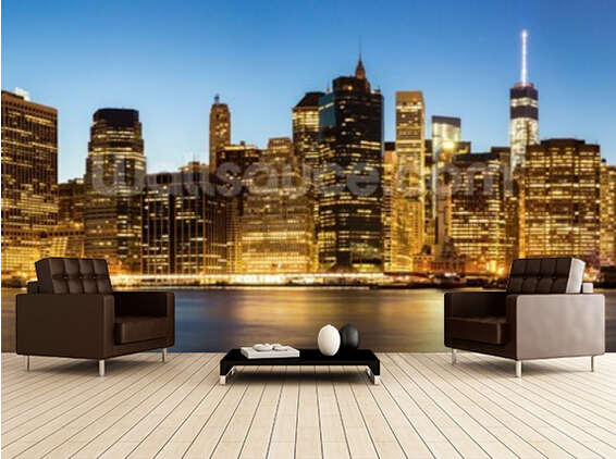 Custom photo wallpaper,Panorama of New York City.Modern 3D wallpaper murals for living room bedroom kitchen wall  wallpaper. new fine fabric texture wall of setting of the bedroom a study wallpaper of europe type style yulan wallpaper fashion pavilion