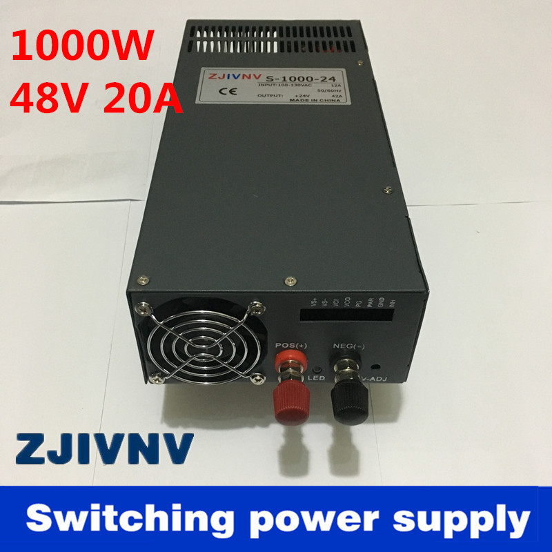 Low price S-1000-48 power suply output 48v 1000w 48v 20a power supply transformer ac to dc power supply input 110v or 220v 110v ac input 200w switching power supply dc48v dc power supply 48v 4a model s 200 48