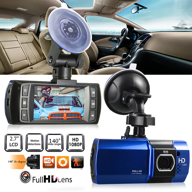 KROAK 2.7 Inch Full HD 1080P Car DVR Camera G-sensor Night Vision