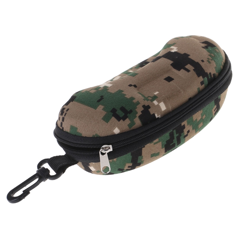 Glasses Box Zipper Portable Camouflage Sunglasses Case Optical Eyewear Accessory