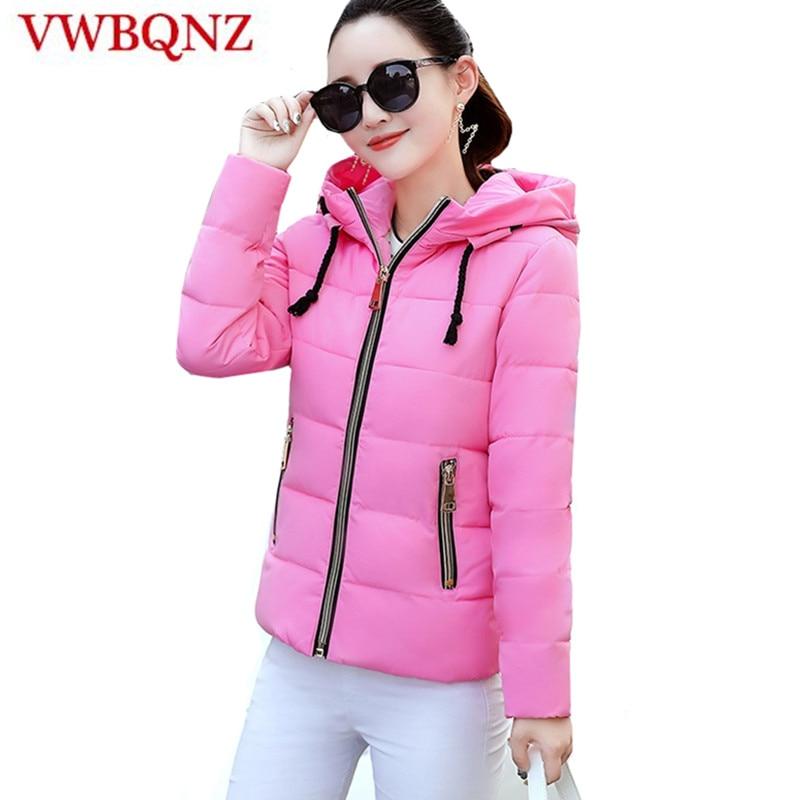 2018 Women winter jacket autumn hooded Coat Female Short Spring Jacket Women Padded cotton   Parkas   Casual Student Basic Jackets