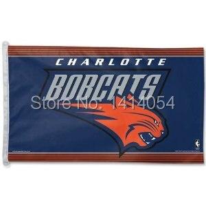 <font><b>Charlotte</b></font> <font><b>Bobcats</b></font> Flag 150X90CM 3X5FT <font><b>Banner</b></font> 100D Polyester grommets custom009, free shipping