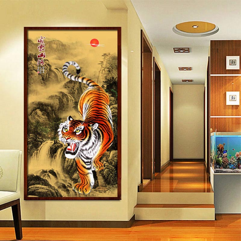 Tiger DIY Resin 5D Diamond Painting Cross Stitch Kit Wall hanging ...
