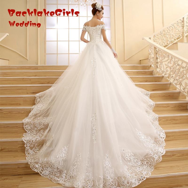 Star Wedding Dress Shop: Vestido De Novia 2018 New Bridal Gown Princess White Lace