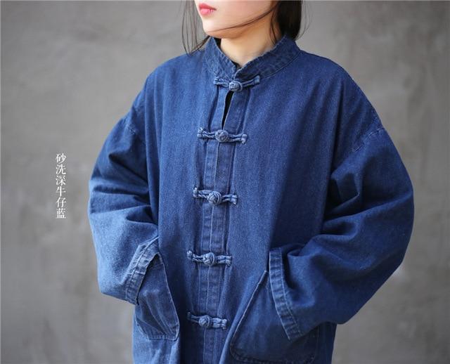 Женский джинсовый Тренч NINI WONDERLAND, винтажный Тренч большого размера, Весенняя повседневная одежда, 2020