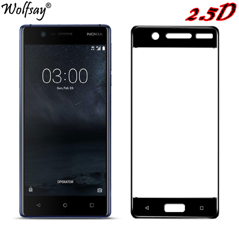 SFor Nokia 5 Tempered Glass Full Coverage Screen Protector For Nokia 5 Glass Color Anti-Explosion Protective Glass For Nokia5