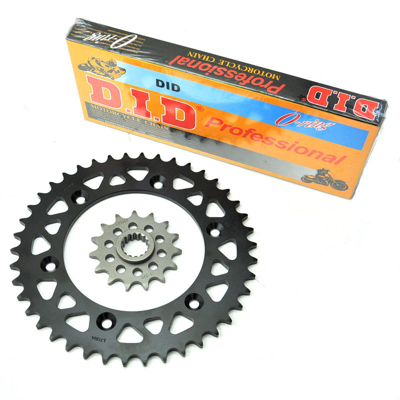 LOPOR MOTORCYCLE 520 CHAIN FRONT & REAR SPROCKET FOR KTM 400/600 DUKE 95-96,95-98 1 set front and rear sprocket chain
