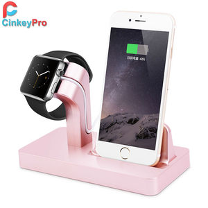 CinkeyPro Charger Dock For iPhone 7 6 5 & Apple Watch Charger Smart USB Fast Charging Mobile Phone Holder Stand Adapter Device
