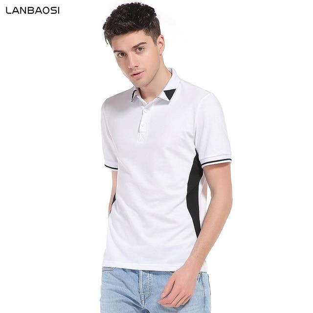 Slim Fit Wit Overhemd.Lanbaosi Slim Fit Wit Polo Shirts Heren Korte Mouwen Gestreepte