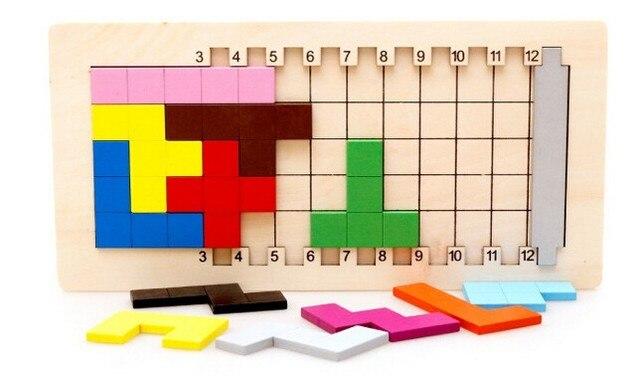 IQ Pentomino Mente Cérebro Teaser de Puzzle De Madeira Puzzles Brinquedos Jogo para Adultos E Crianças