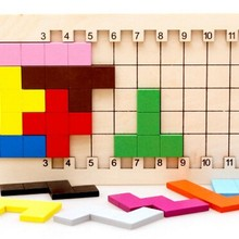 IQ Pentomino Wooden Puzzle Mind Brain Teaser Puzzles