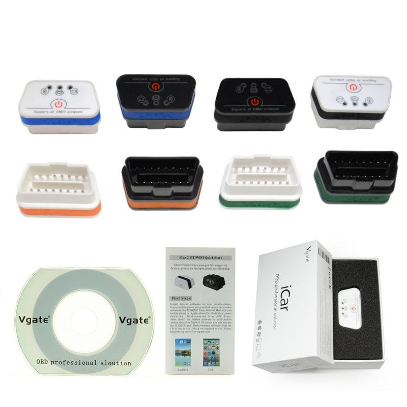 Prix pour D'origine Vgate iCar2 Bluetooth OBD Scanner iCar 2 ELM327 Bluetooth Interface De Diagnostic Code Scanner