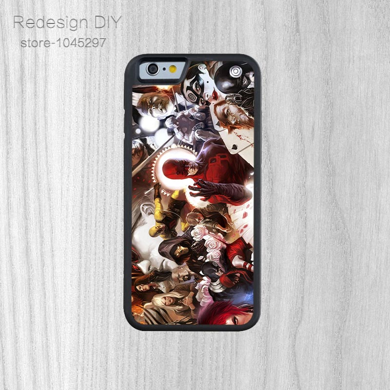 Latest Design marvel comic characters smartphone shell For iPhone 6 6s And 4 4s 5 5s 5c 6 Plus Phone Case