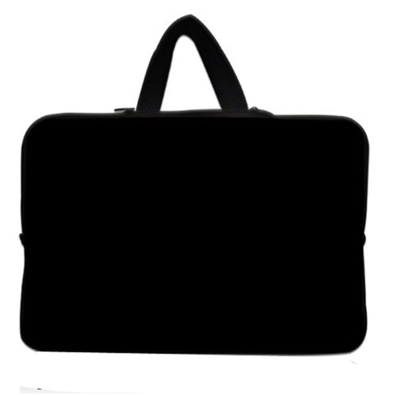 Neoprene Soft 12inch 12.1 11.6 Plain Black Notebook Laptop Sleeve Bag Zipper Cover Pouch ...