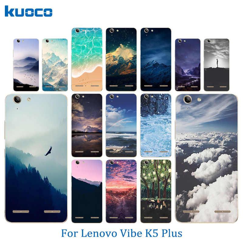 كوكه لينوفو فيبي K5 قذيفة K5 زائد الليمون 3 A6020 جراب هاتف المشهد نمط لينة TPU السيليكون لينوفو A 6020 عودة يغطي