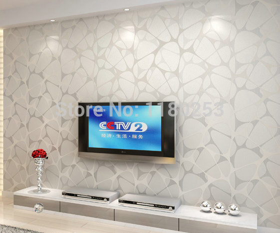 New 3d Luxury 3d White Stone Effect Wallpaper 3d Stone