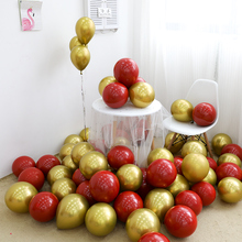 BTRUDI 10pcs Metal balloon 12inch LaTeX balloons red gold  Wedding Engagement Birthday Party Valentines Day Decorative