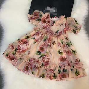 Girl Dress Flowers Summer Children Sweet 90-160cm Good-Quality New-Product New-Arrival