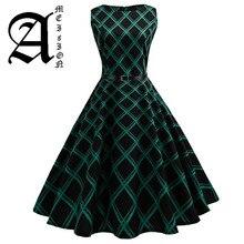 Floral Print Women Summer Dress Hepburn 50s 60s Retro Swing Vintage A-Line Party Dresses With Belt jurken Plus Size