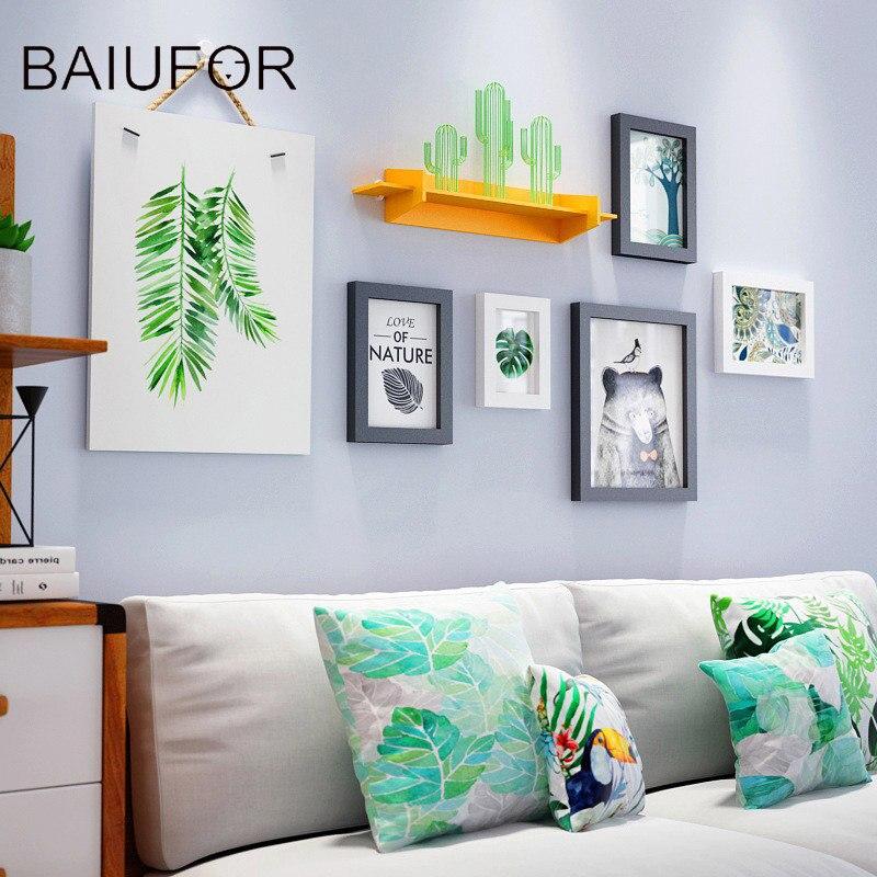 Hot Sale BAIUFOR Modern Collage Wooden Photo Frame Set,White Vintage ...