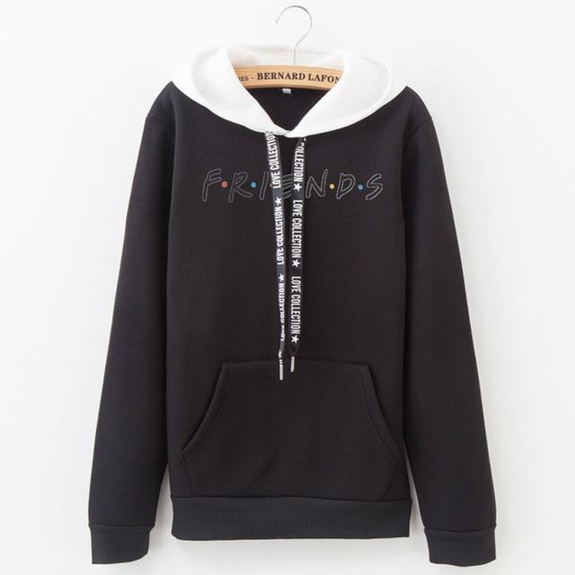 2019 New Friends Printing Hoodies Sweatshirts Harajuku Crew Neck Sweats Women Clothing Feminina Loose Women's Outwear Fall B0314 1