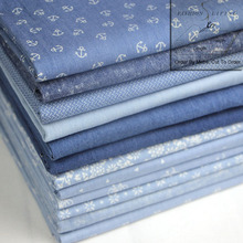 145cm Wide Printed Cotton Denim Fabric Light Blue Light indigo Denim Jersey Apparel Fabric Floral Print Light Weight Denim
