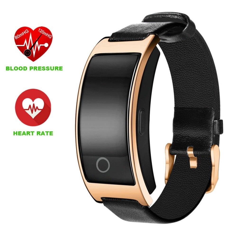 imágenes para CK11S banda Inteligente Pulsera muñequera muñequera podómetro del ritmo cardíaco monitor de ritmo cardíaco reloj despertador caer recordatorio de pulsera