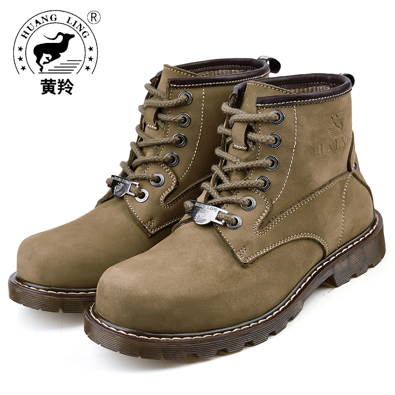 Здесь можно купить   Size 38-44 HUANGLING Winter Fashion Boots Men work shoes winter Martin Military Boots Lace up Comfortable Men shoes HL7102 Обувь