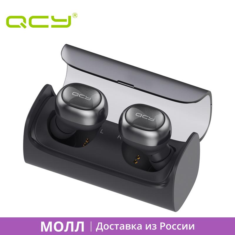 Prix pour CENTER COMMERCIAL QCY Q29 airpods Anglais voix d'affaires bluetooth écouteurs sans fil 3D stéréo casque pour iphone 6 7 ipad ipod android