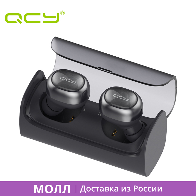 ФОТО MALL QCY Q29 airpods English voice business bluetooth  earphones wireless 3D stereo headphones for iphone 6 7 ipad ipod android