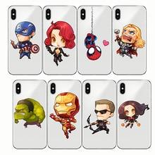Phone Case Batman DC Comics Superhero Soft Transparent Cover for IPhone 6 6S 7 8 Plus 5S SE X XR 11 pro XS MAX
