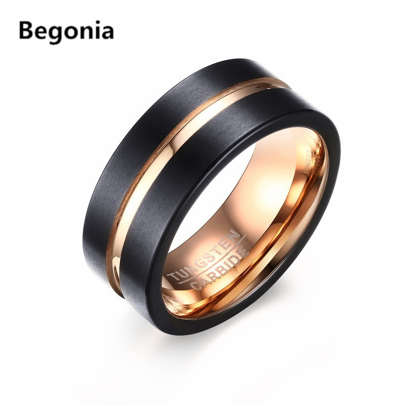 ring koa wedding products rings mens silver band center wood carbide with tungsten stripe free
