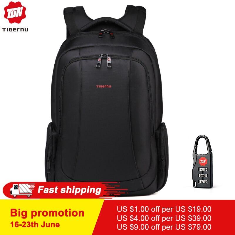 Tigernu 15.6 pouces Mini Anti-vol sac à dos pour ordinateur portable mâle étanche hommes sacs à dos sac décontracté école sacs à dos pour les adolescents